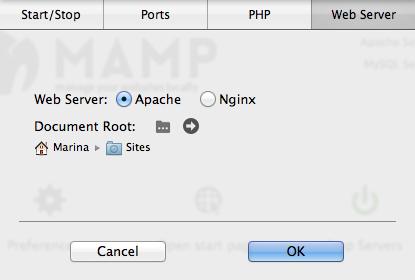 MAMP webserver