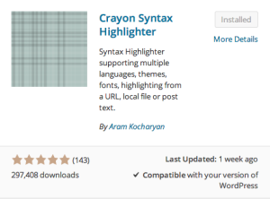 Crayon Sintax Highlighter