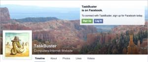 TaskBuster on Facebook